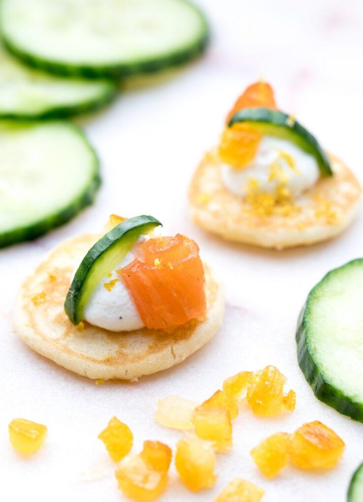 Pièce cocktail au saumon et concombre